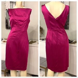 BR art deco inspired magenta sheath dress 2